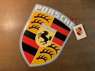 Original Porsche Wappenschild emailliert