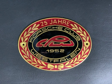 """Original Porsche Club Westfalen """"25 J.""""  Plakette"""