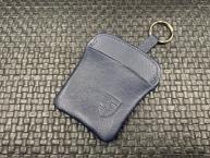Original Porsche Schlüsseletui -blaues Leder