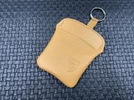 Original Porsche Schlüsseletui -beiges Leder