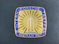 original Porsche 3. intern. Treffen Meran 1957 Plakette