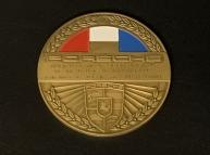 Original historische Porsche Club France Plakette