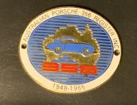 Original historische Porsche Club Köln Australia Plakette
