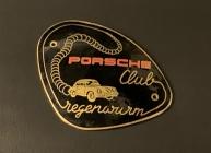 Original historische Porsche Club Regenwurm Plakette