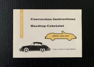 Original Umbau-Anleitung 356 B Cabrio -1960